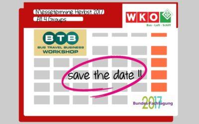 Messe BTB – Fachtagung WKO – Save the date!